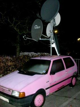 Satellitenwagen