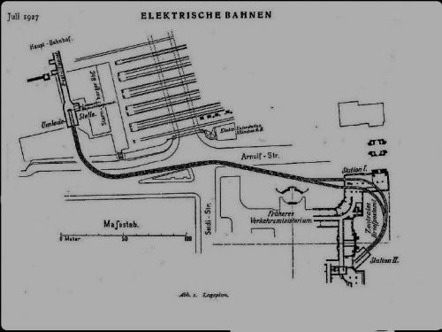 Lageplan von 1927