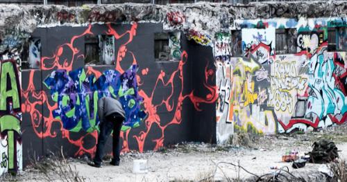Bild 12 Sprayer bei seiner Arbeit